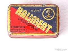 0K755 Antik KALIMEN gyógyszeres fémdoboz pléhdoboz