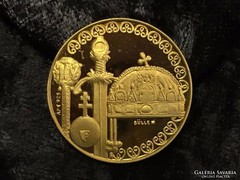 Magyar Millecentenárium aranyozott ezüst emlékérem