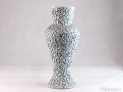 0K795 Jelzett iparművész kerámia KIRÁLY váza 35 cm