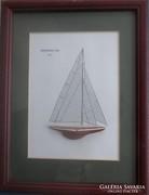 Vitorlás hajó modell képen Endewour 1934