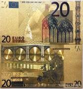 24 karátos arany bevonatú 20 EURO