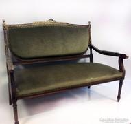 Igazi 7 darabos Louis XVI. szalon ülőgarnitúra