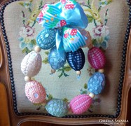 Kézműves húsvéti tojáskoszorú