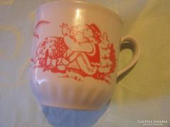 Csodaszép furulyázó pásztor fiú csésze