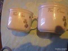Csodaszép  német csésze arany mintás
