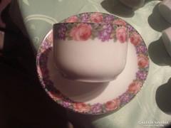 Vadrózsás ibolyás teás csésze