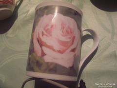 Rózsás teás csésze teás csésze