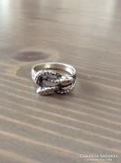 Régi kígyós ezüst gyűrű