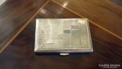 Ezüst kis méretű cigarettatárca