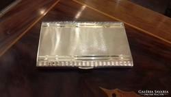 Ezüst nagy méretű art deco cigarettatárca