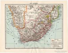 Dél - Afrika térkép 1911, eredeti
