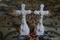 Antik porcelán kereszt 2 db egyben vagy külön is eladó