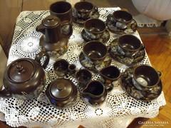 Városlődi majolika teás vagy capuccinós készlet