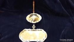 Antik ezüst gyönyörű ritka készlet,fa nyéllel,jelzett Italia