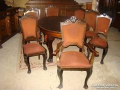 Antik étkező asztal székekkel eladó