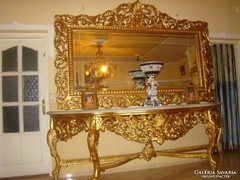 Antik nagy méretű álló tükör