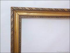 Régi fa képkeret , vágható ,  falc 32 x 24,5 cm.