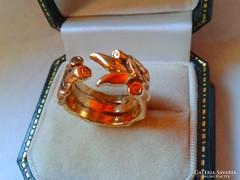 NURIT Izraeli aranyozott ezüst gyűrű