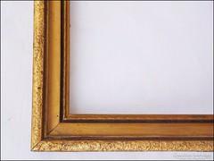 Régi fa képkeret ,  falc 33 x 36  cm.