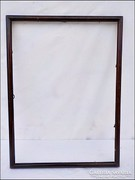 Régi fa képkeret ,  falc 31 x 42,5 cm.