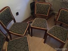 Restaurált art deco székgarnitúra