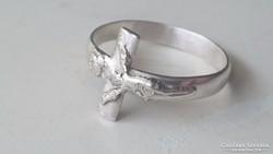 """Ezüst kis """"Kereszt"""" apáca gyűrű"""