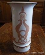 Egyedi, ritkán előforduló nagyméretű Hollóházi váza! 30 cm