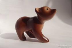 Gránit Kispest mackóka - medve maci retro porcelán