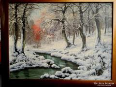 Téli Erdő festmény eladó