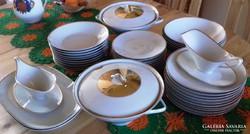 Fehér-arany csíkos étkészlet BAVARIA 40 db-s