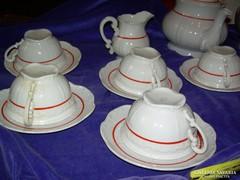 13 darabos hiányos Zsolnay teáskészlet