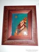 Németh Klára: Három királyok - tűzzománc kép
