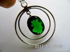 925 ezüst smaragd medál