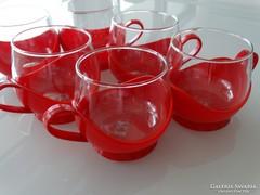 Retro kávés készlet, Schott üvegbetéttel