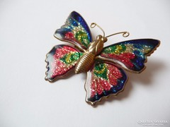 Tűzzománc pillangó kitűző