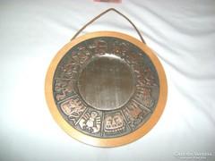 Horoszkópos réz-fa falitükör