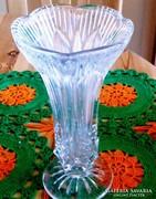 21 x 11 cm kristály , régi váza