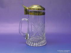 0L177 Hibátlan fedeles csiszoltüveg söröskorsó