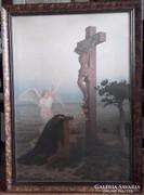 Kasparides olajnyomat, gyönyörű állapotban,1920-as évekből