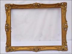 Régi blondelkeret , képkeret ,  falc 30 x 40  cm.