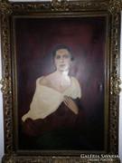ZOBOR JENŐ 1898-1960 Nagy NŐI Portré  Kúriákba-kastélyokba
