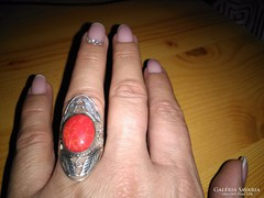 LEÁRAZVA! Impozáns korall gyűrű