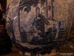 Kínai mintás angol porcelán kaspó.Viktória királynő korabeli