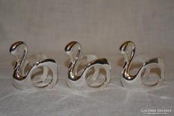 3 db ezüstözött hattyú szalvéta gyűrű ( DBZ 0072 )