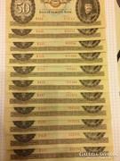50 forint 1986 11 db UNC !!
