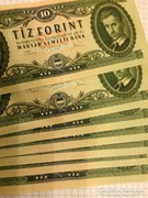 10 forint 1975 7 db NAGYON RITKA sorszamkovetett UNC!!!