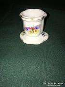 Herendi viktória mintás porcelán mini gyertyatartó 1941