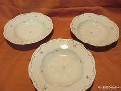 3 db Zsolnay mély tányér