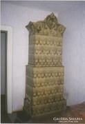 MEISSENI szecessziós kastély cserépkályha 250 cm magas