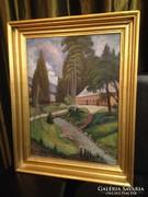 Bánk Ernő szép festménye eladó